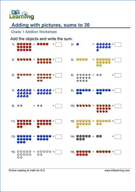 printable worksheet for grade 1 free printable grade math worksheets k5 learning