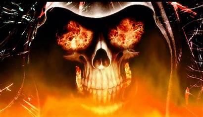 Fire Screensaver Wallpapers Cool Animated Skull Skeleton