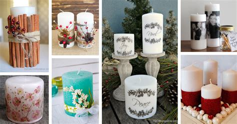 decorated candle ideas  designs