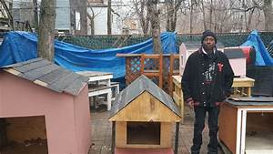 building doghouses and benches a labor of love for With the dog house englewood