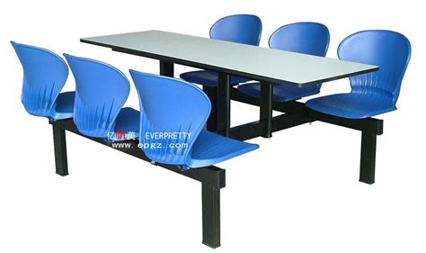 plastic school canteen tables and chairs for 6 person