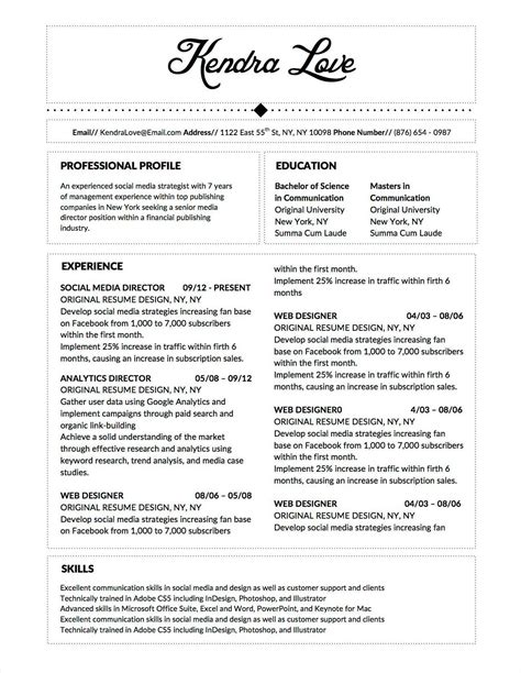 Resume Layout Word by Winning Resume Templates For Microsoft Word Apple Pages