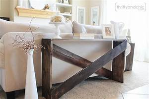 stylish and simple diy sofa table remodelaholic bloglovin With diy sectional sofa table