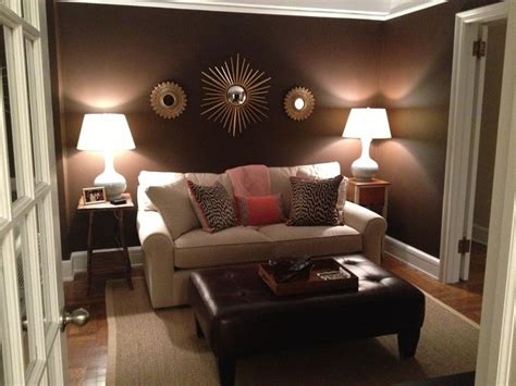 den brown walls  accents  coral  blue create