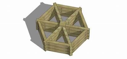 Garden Herb Wheel Plans Planter Box Raised