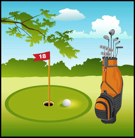Clip Golf Golf Course Clipart Golf Green Pencil And In Color Golf