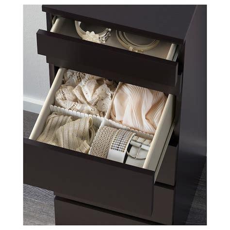 Ikea Cassettiere Malm by Malm Cassettiera Con 6 Cassetti Marrone Nero Vetro A