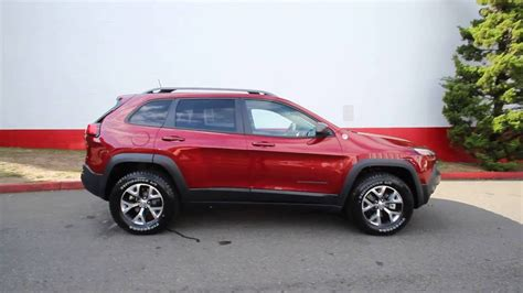 red jeep 2017 2017 jeep cherokee trailhawk 4x4 deep cherry red crystal