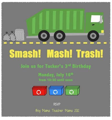 Boy Mama: A Trashy Celebration: A Garbage Truck Birthday