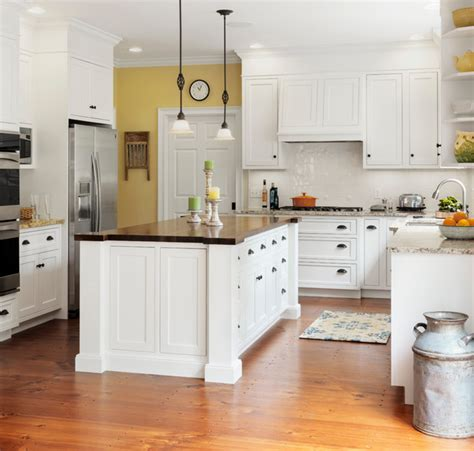 Kitchen Layout Ideas With Island - farmhouse kitchen with butcher block island traditional kitchen burlington by bickford