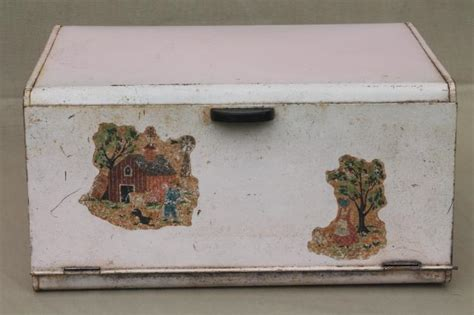 shabby chic bread box shabby chic pink vintage metal bread box for country cottage kitchen