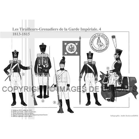 le bureau la garde les tirailleurs grenadiers de la garde impériale 1809 1815