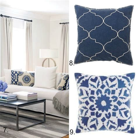 blue  white cushion collection hamptons style diy