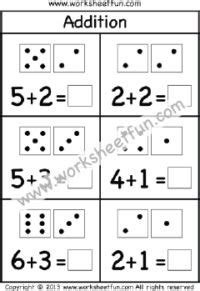 kindergarten addition  subtraction worksheets