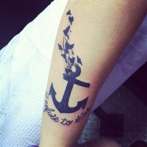 Anchor Tattoo Couples refuse  sink   tattoo  style tattoos 736 x 736 · jpeg
