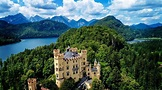 BAVARIA, GERMANY: Beautiful drone flight over the Bavarian ...
