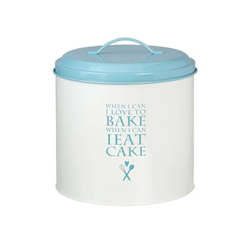 Parlane Shabby Chic Cream Blue Love To Bake Bread Bin