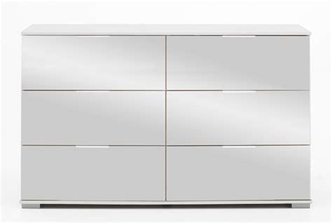 cuisine moderne et blanc commode 6 tiroirs easy plus c blanc miroir