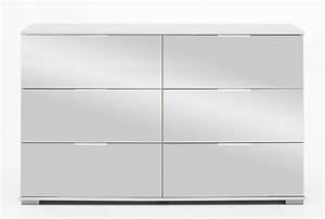Commode à Tiroirs : commode 6 tiroirs easy plus c blanc miroir ~ Teatrodelosmanantiales.com Idées de Décoration