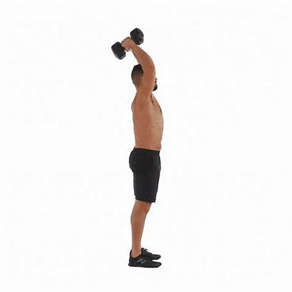 Tricep Triceps Exercises Arms Extension Dumbbell Overhead