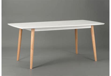 table en bois blanche table 224 manger blanche scandinave amadeus amadeus 19830