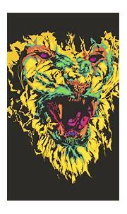 68+ Colorful Lion Wallpapers on WallpaperPlay | Colorful ...