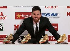 Lionel Messi receives 4th Golden Shoe as Europe's top