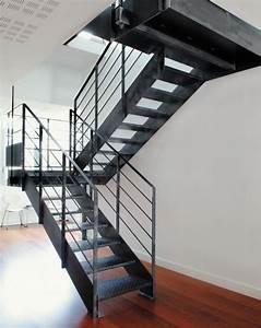Escalier Sur Mesure Prix : escalier m tallique photo dt37 esca 39 droit 2 quartiers ~ Edinachiropracticcenter.com Idées de Décoration
