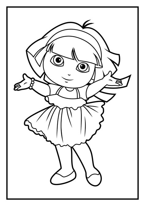 dora coloring pages  coloring pages