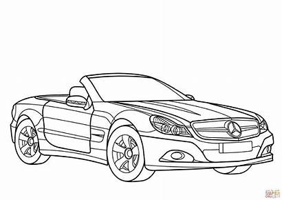 Mercedes Coloring Benz Pages Class Sl Mclaren