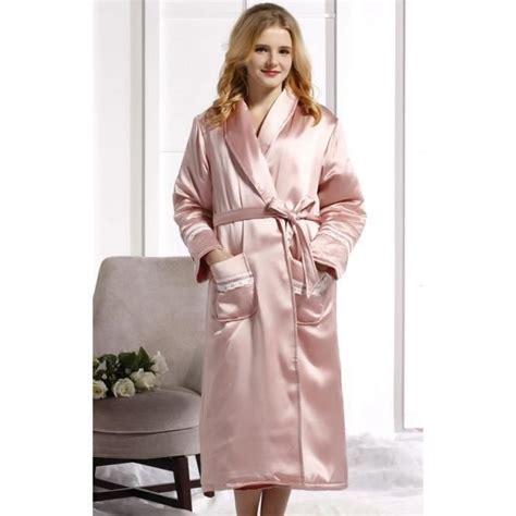 robe de chambre soie femme robe de chambre luxe femme soie matelass 233 e achat vente