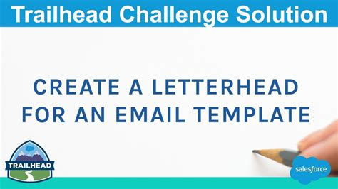 create  letterhead   email template salesforce