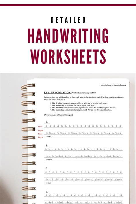antoinette handwriting practice sheets lowercase