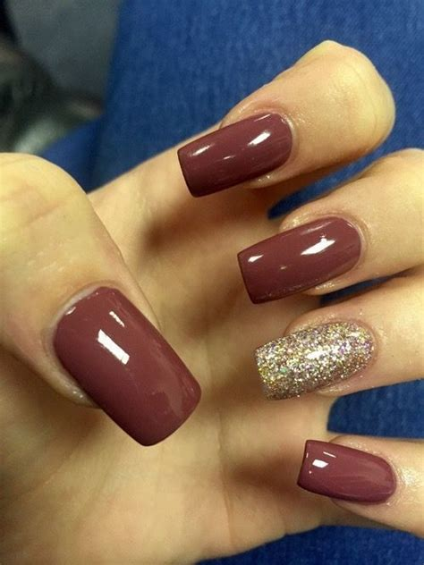 fall color nails the 25 best burgundy acrylic nails ideas on