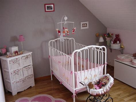 chambre fille bébé chambre deco bebe fille visuel 7