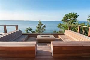 Banquette Bois Exterieur : hamptons waterfront ~ Farleysfitness.com Idées de Décoration