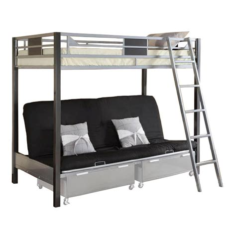 double bunk sofa bed venetian worldwide cletis iii twin over futon bunk bed