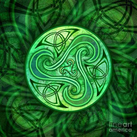 Celtic Triskele Mixed Media by Kristen Fox