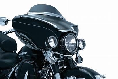 Kuryakyn Trim Windshield Bat Fairing Chrome Deluxe