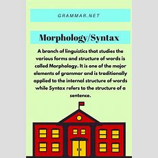 Morphology  Grammar Newsletter  English Grammar Newsletter
