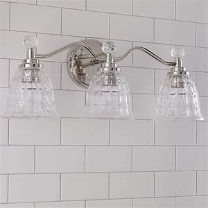 Bathroom Vanity Lights With Shades Faceted Glass Vanity Light 3 Light Shades Of Light