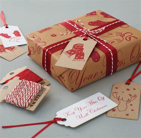 'keep Your Mitts Off' Gift Wrap Set By Sophia Victoria Joy
