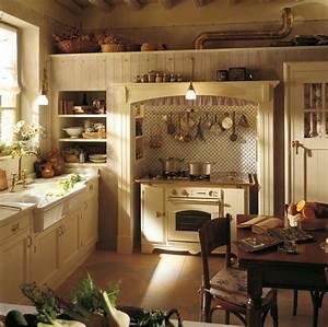 Cuisine Ancienne Campagne : cuisine campagne moderne 50 id es pour un d cor chaleureux ~ Nature-et-papiers.com Idées de Décoration