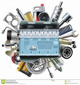 Piece Detache Voiture : moteur de moteur de vecteur avec des pi ces de rechange de voiture illustration de vecteur ~ Gottalentnigeria.com Avis de Voitures