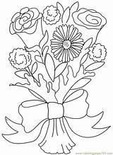 Coloring Bouquet Pages Flower Rose Carnation Printable Clipart Valentine Clip Flowers Roses Daisy Doodle Colouring Adults Others Sheets Bouquets Colour sketch template