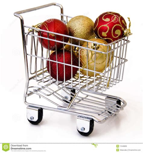 shopping cart christmas tree christmas tree ornament in shopping cart royalty free 1406