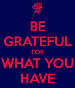 Be Grateful For What You Have Quotes. QuotesGram