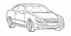 mercedes benz clk coloring page mercedes car coloring With mercedes benz s cl