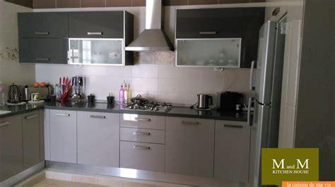cuisine equipee grise cuisine equipee grise maison moderne