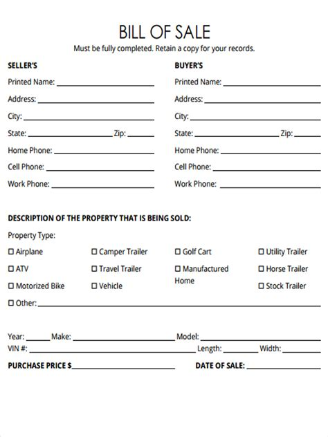 what is a bill of sale form bill of sale for a horse ideal vistalist co